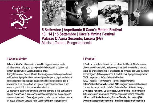 Cacc'e-Mmitte-Festival