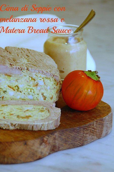 Cima-di-seppie-alla-melanzana-tonda-rossa-con-salsa-di-pane-di-Matera