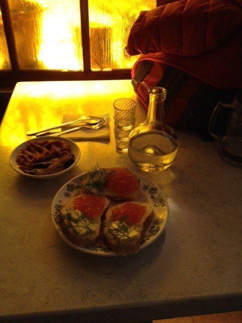 Blinji e caviale di salmone