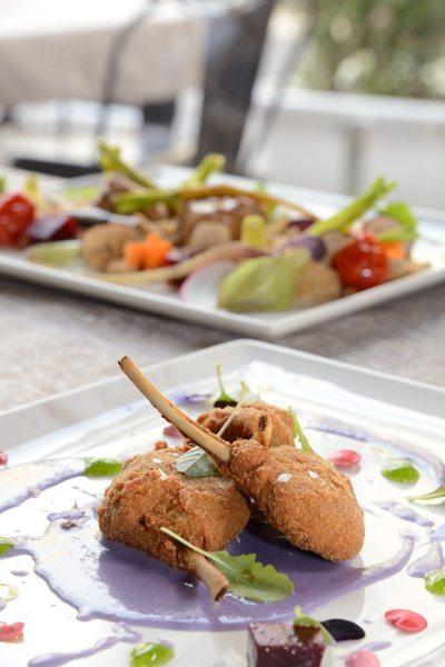 Agnello alla Villeroy,patata viola e rape rosse (4)