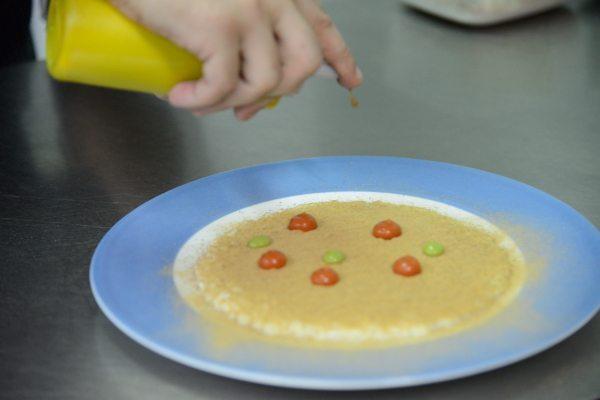 Risotto Acquerello alla bufala, burro formaggio di mozzarella fatto in casa, polvere di melanzane, pomodoro del piennolo, ricotta salata, salsa al p[3]