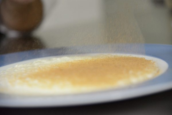 Risotto Acquerello alla bufala, burro formaggio di mozzarella fatto in casa, polvere di melanzane, pomodoro del piennolo, ricotta salata, salsa al p[6]