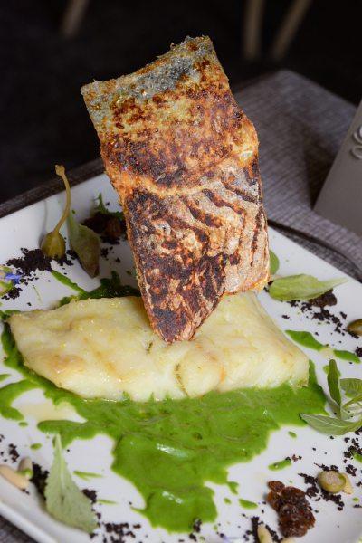 baccalà alla griglia su crema di scarola Alla Monachina (4)