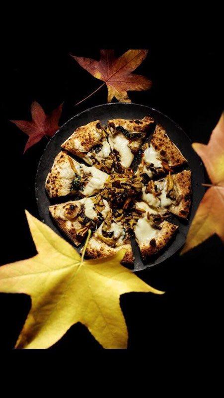 Pizza con funghi e castagne- Gennaro Nasti - Foto Varoli