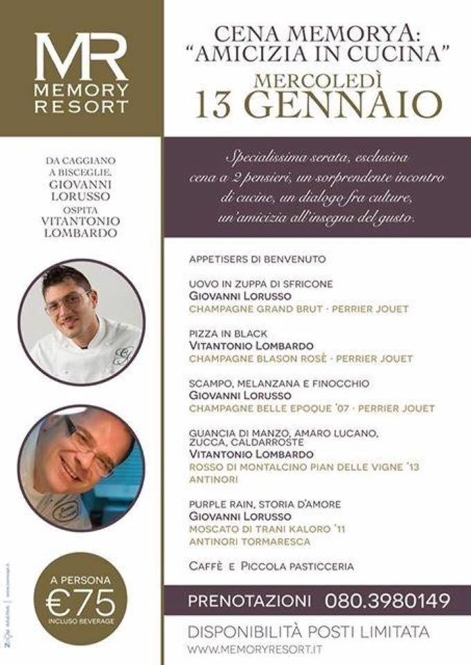 Giovanni Lorusso e Vitantonio Lombardi - cena MemoryA