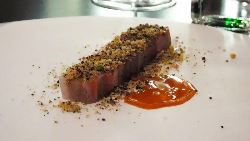 Bistecca di triglie con panure aromatica