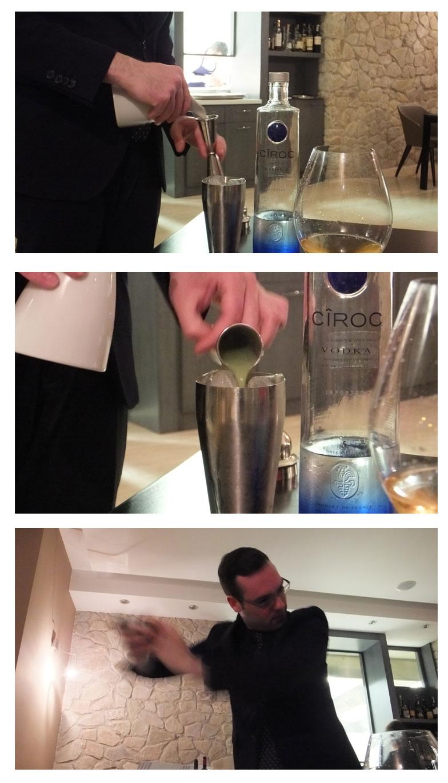 Cocktail di Vodka Ciroc e mela verde per ostrica