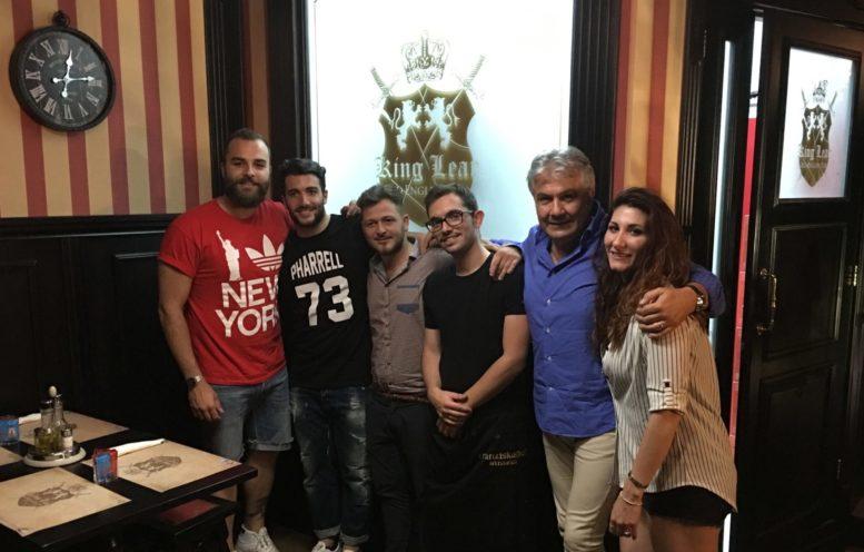 Da sinistra Umberto, Marco, Enrico e Peppe