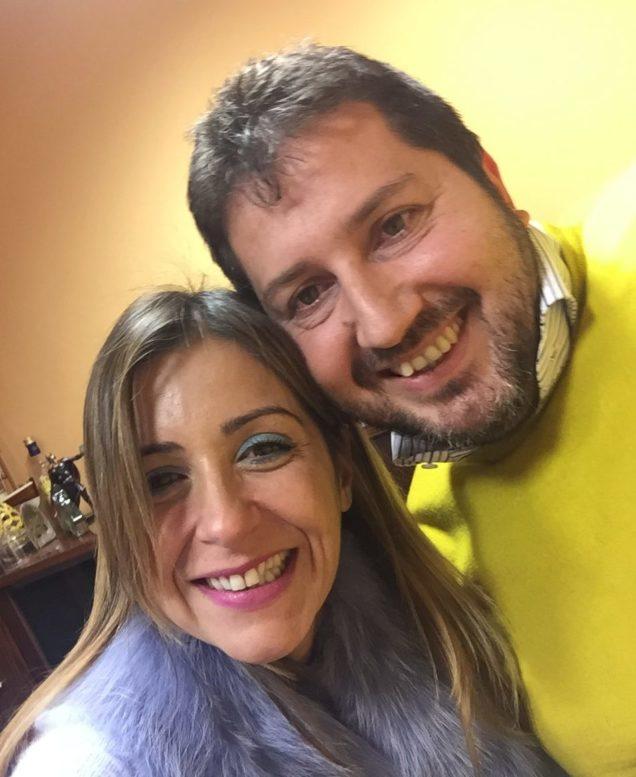 Paola Spiezia con Antonio Apuzzo, titolare di Sole365