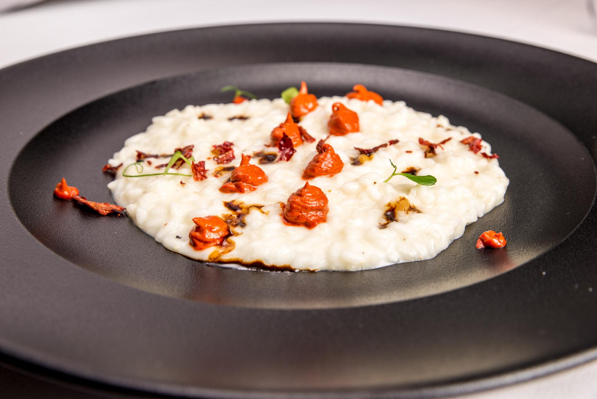 risotto con peperoni