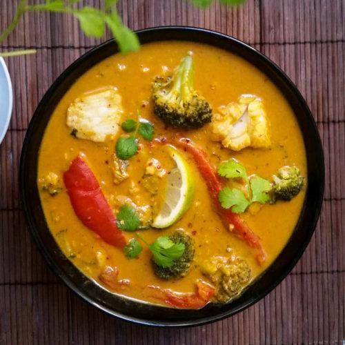 Merluzzo al latte di cocco e curry