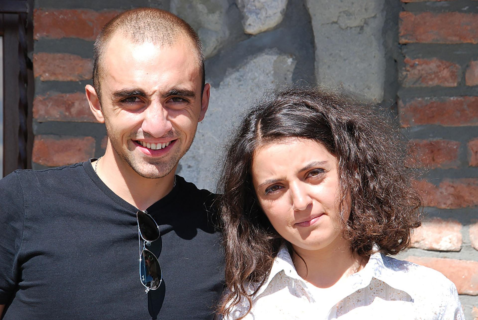 Temuri Dakishvili con la moglie Xatia